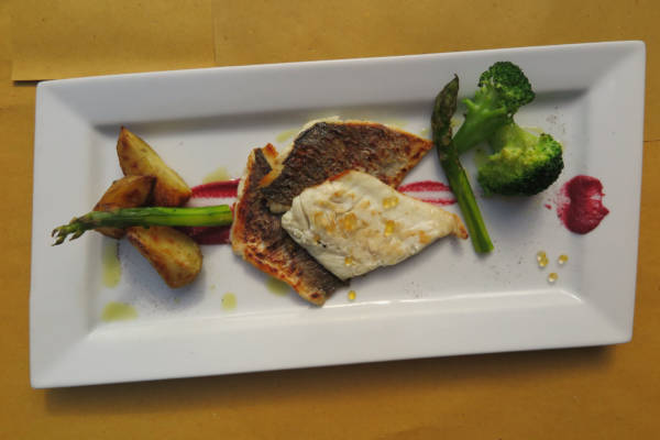 Grilles Seabass with Season Vegetables
