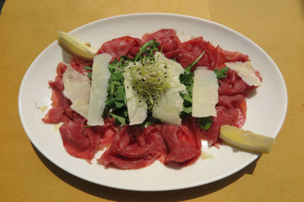 Bresaola, Rocket Salad and Parmesan