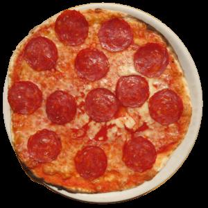 Tomate, mozzarella, salami picante