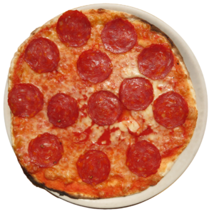 tomato, mozzarella, spicy salami