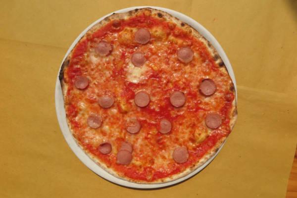 tomato, mozzarella, frankfurter