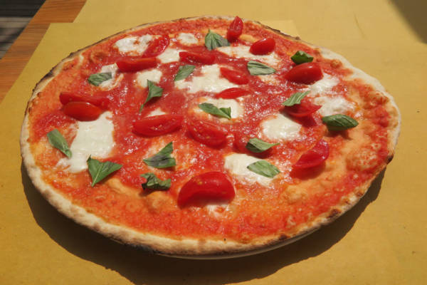 tomato, buffalo mozzarella, cherry tomatoes, basil