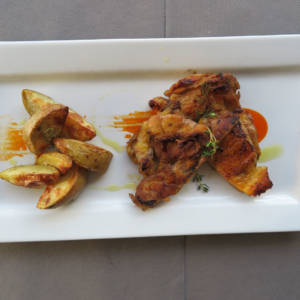"Chicken Thigh ""Payés"" with Roasted Potato"