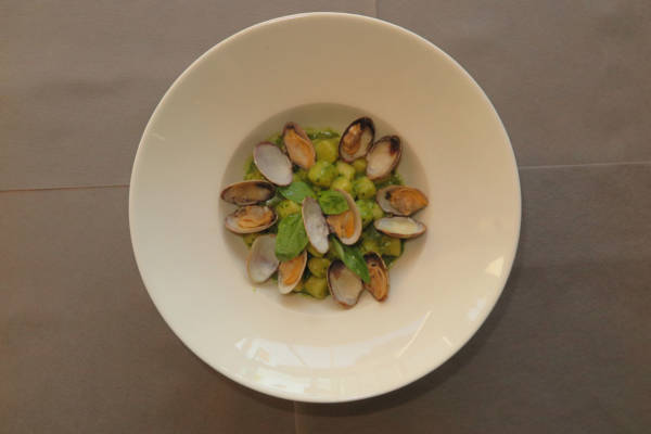 Gnocchi Pesto and Clams