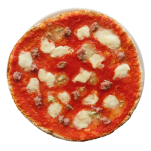 tomato, buffalo mozzarella, blue cheese,Italian sausages