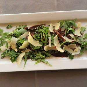 Straccetti with Rocket Parmesan and Balsamic Vinegar